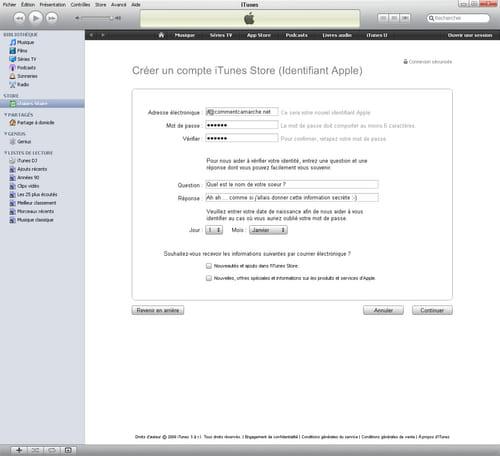 Création ou utilisation d'un identifiant Apple sans mode de ...