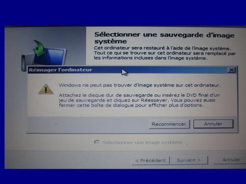 Windows 7 réparation installation ne peut pas démarrer