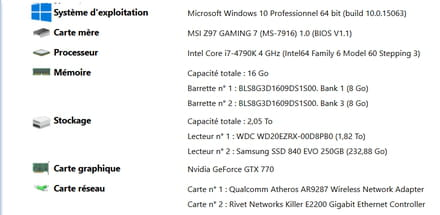 Erreur Kernel-Power ID=41 (63) - Windows 10
