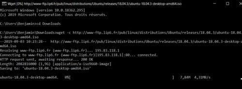 Reprendre un téléchargement interrompu sur Google Chrome Terminal2