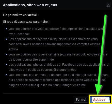L Action Tentee Est Interdite Car L Utilisateur A Desactive Des Jeux Facebook Comment Ca Marche