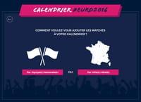 Le calendrier de l'Euro 2016 sur Google Agenda, iCal et Outlook