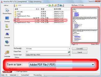 transformer un document word en pdf windows 10