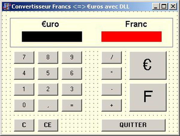 Delphi Pascal Calculatrice Convertisseur Franc Euro Avec Dll Dynamique Codes Sources