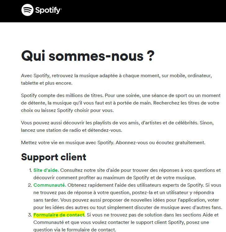 comment supprimer un compte spotify free