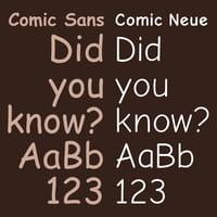 Avec ou sans Comic Sans ?