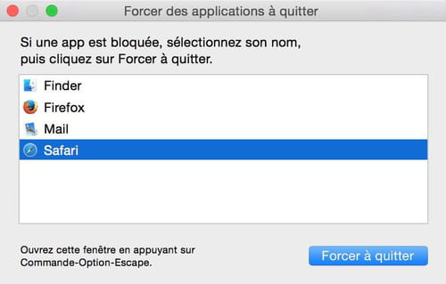 Mac Os X Comment Forcer Une Application A Quitter