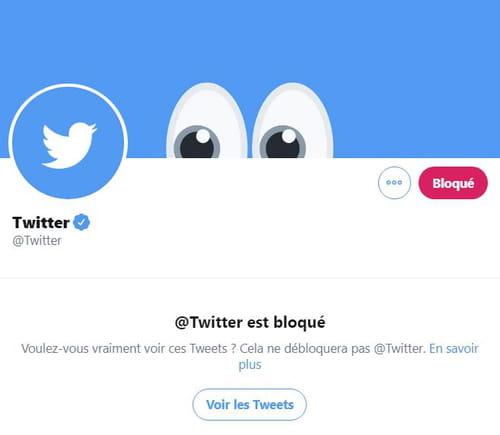 Bloquer et débloquer un utilisateur sur Twitter Bloque